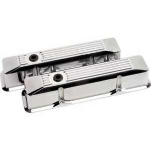 Billet Specialties Valve Covers Sbc Ribbed Polished Tall 95620