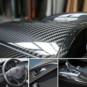 Steering Wheel Car Parts Carbon Fiber Film Trunk Guard Plate Decal Sticker Trim