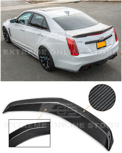 Imper For 16 19 Cadillac Cts v Carbon Fiber Package Rear Trunk Spoiler Wing