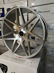 Gianelle Parma Wheels Gloss Silver machined Face 26x10 For Any Car suvs Forgiato
