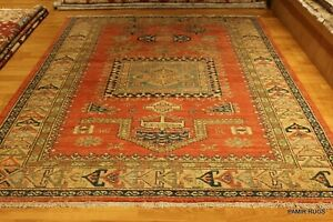 On Sale 5 X 7 Handmade Fine Caucasian Kazak Design Antique Washed Prayer Rug