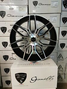 Giovanna Bogota Black machin Wheels 24x10 Any Car suv Forgiato Vossen Hre Asanti
