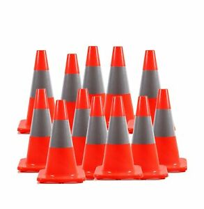 12 Pack Besea 18 Orange Pvc Traffic Safety Cone Construction Cone Road P