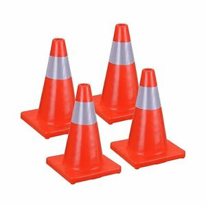Chimaera 4 pack Traffic Cones For Construction Road Hazard Reflective Safet