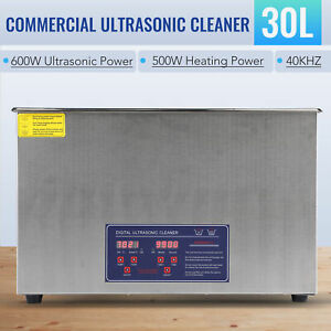 30l Digital Ultrasonic Jewelry Cleaning Cleaner Machine With Heater Timer Os