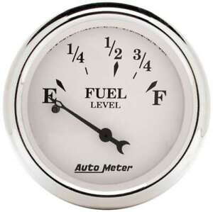 Autometer Old Tyme White 2 1 16in Fuel Pre 65 Gm 1607