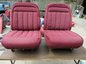 88 94 Chevy Silverado Suburban Tahoe Gmc Sierra Red Low Back Bucket Seats