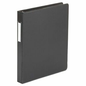Universal Suede Finish Vinyl Round Ring Binder With Label Holder 1 Capacity