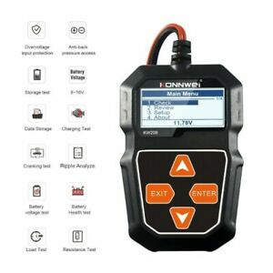 Kw208 Car Battery Tester Charger Analyzer 12v 100 2000cca Charging System Test
