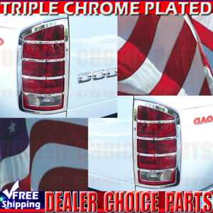 For 2002 2006 Dodge Ram 1500 03 06 Ram 2500 3500 Chrome Taillight Bezel Covers