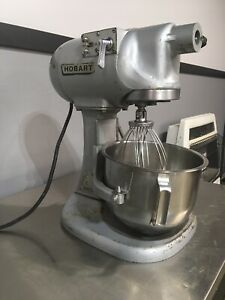 Hobart 5 Quart Countertop Commercial Mixer N 50 3 Speed Bowl Whisk