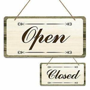 Open Signs For Business 6 x12 Farmhouse Reversible Double Sided Open Closed