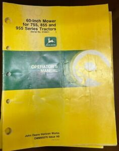 John Deere 60in 755 855 955 Series Tractors Operator Manual Omm95076 I 3