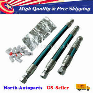 Us Powerstroke Replacement Hpop Oil Hoses Set For Ford 7 3l 94 97 With Crossover