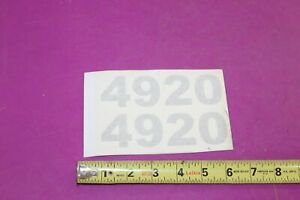 Nos Montana 4920 Tractor Decals Acquired From A Closed Dealership See Pic