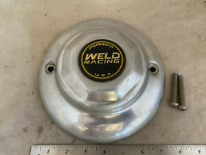 Weld Racing Forged Alloy Polished Dome Wheel Cover Center Cap 8 1 8 Diameter