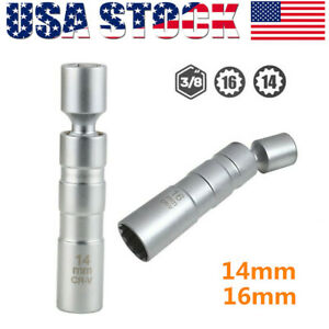 14 16mm 12point Thin Walled Magnetic Swivel Spark Plug Socket 3 8 Drive For Bmw