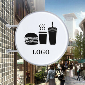 24 Round Led Sign Double Sided Led Advertising Projecting Light Box Outdoor New