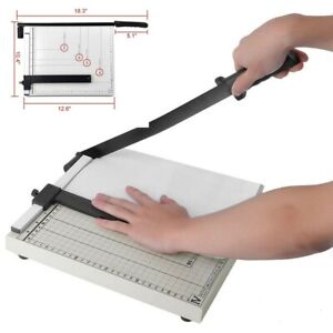 12 Paper Cutter A4 To B7 Metal Base Guillotine Page Trimmer Scrap Booking