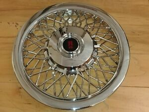 15 Custom Chrome Wire Spoke Hubcaps Wheelcovers For Oldsmobile 4 Brand New