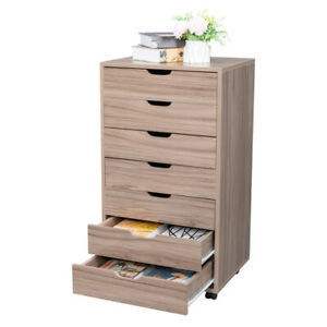 Durable Multifunctional Seven drawing Wooden Filing Cabinet Mdf With Pvc