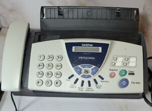 Brother Fax 575 Personal Plain Paper Fax Machine Phone Copier Tested