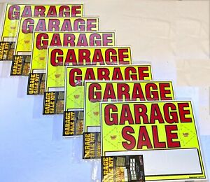 Huge Lot Garage Sale Signs Pre Priced Label Kits New Free Shipping
