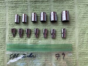 Snap On 1 4 Drive 13 Piece Shallow Sae Master Socket Set 1 8 5 8 New