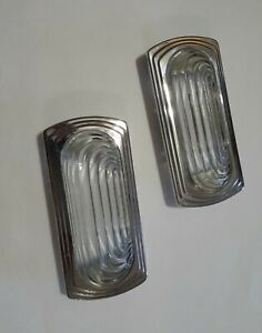 1951 1952 Dodge Plymouth Dome Light Glass Lens And Bezels