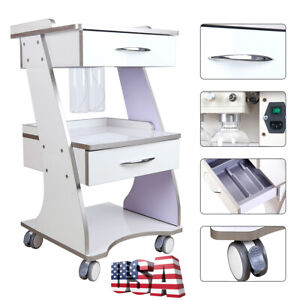 Mobile Dental Auto water Bottle Supply Metal Trolley Tool Cart Locking Wheels