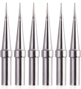 6pcs Tips Weller Et Soldering Iron Tips For Wes51 50 wesd51 we1010na pes51 50