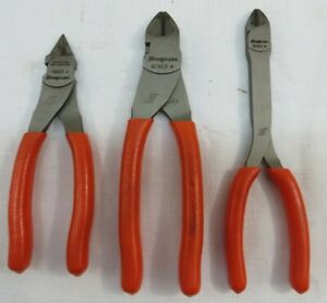 Lot Of 3 Snap On Cutting Pliers 808cf 87acf 786cf