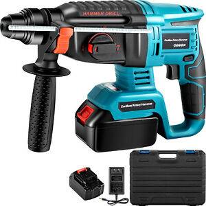 Vevor Electric Rotary Hammer Sds Cordless Drill 4 Functions Variable Speed 18v
