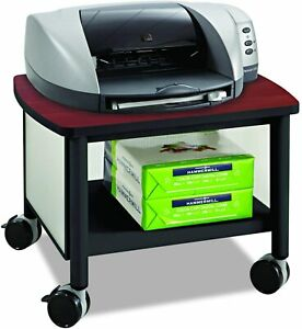 Safco Products Impromptu Under Desk Printer Stand 1862bl Cherry Top