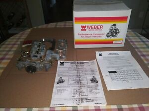 Wk551 Jeep Weber Carburetor 32 36 Dgav Electric Choke With Adapter Kit Used
