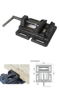 Industrial Drill Press Vise 3in Durable Cast Iron Versatile Wood Shop Work Tools
