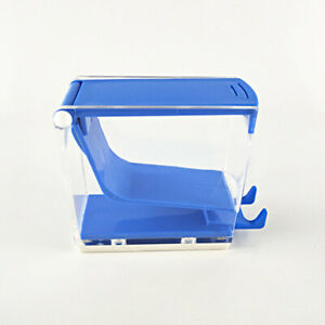 1pc Dental Cotton Roll Dispenser Holder Organizer Deluxe With Pull out Tray Blue