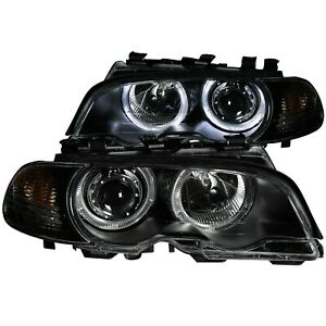 Fits 323ci 325ci 328ci 330ci M3 Projector Headlight Set W halo Anzo Usa 121269