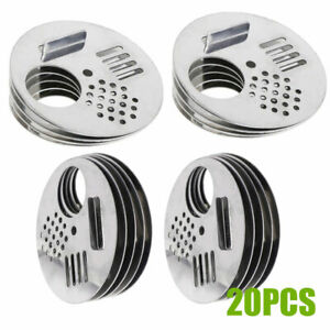 20pcs Stainless Steel Hive Entrance Nest Gate Door Beekeeping Equipment For Bee