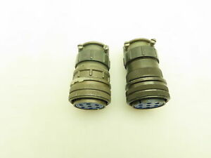 Amphenol 97 3106a 24 10s Size 24 7 Pin Connector Lot Of 2