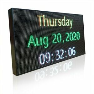 Led Banner With Full Color Displaying Scrolling Message And Programmable Sign