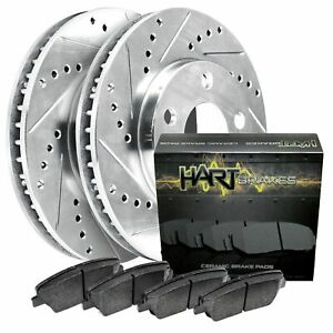 For 1994 2000 Kia Sephia Spectra Front Hartbrakes Brake Rotors Ceramic Pads