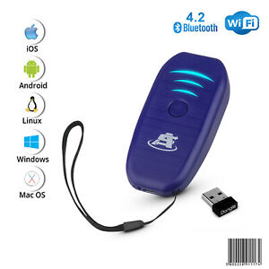 Portable Mini Wireless Bluetooth Barcode Scanner Rechargeable 1d Ean upc Reader