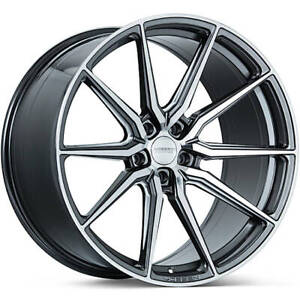 4 Staggered 19x8 5 19x9 5 Vossen Hf3 Gloss Gray 5x112 30 35 Wheels Rims