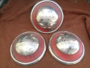 Rare Oem 1936 1937 1938 Lincoln Zephyr Hubcaps Wheel Covers Center Caps 3 Only