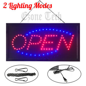 Led Open Sign Bright Neon Light Animated Motion Flash Business Ad Board