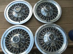 Wire Wheel Covers Hub Caps 1974 To 1979 Ford Thunderbird Set Of 4 Oem Used 15