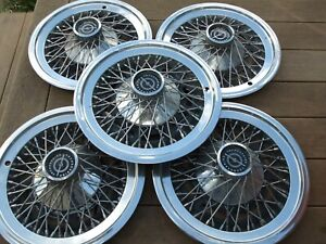 Wire Wheel Covers Hub Caps 1974 To 1979 Ford Thunderbird Group Of 5 Oem Used