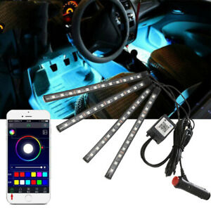 Phone Control Car Neon Light Chassis Atmosphere Lamp Rgb Led Car Under Underbody