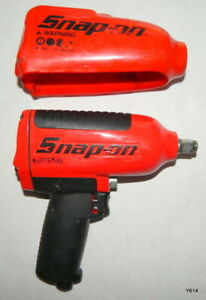 Red Snap on 1 2 Drive Heavy duty Air Impact Wrench W Cover Mg725